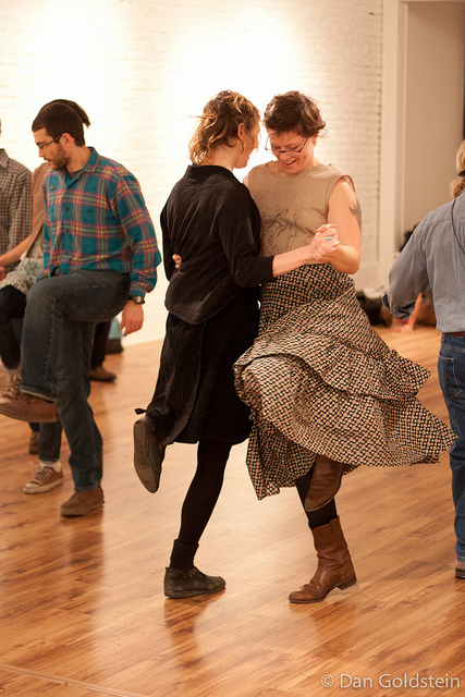 photo of old-time square dance