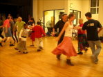 photo of contra dancers