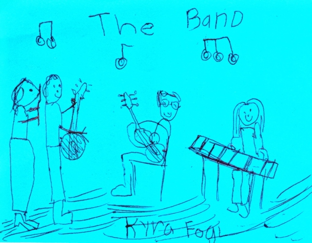 child's drawing of the band
