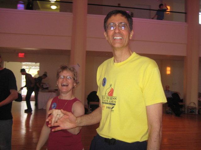 photo of dance callers John and Kathy Coffman