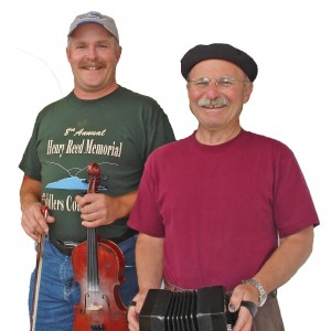 photo of Kirk and Bertram, old-time musicians