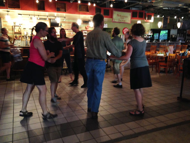 Photo of square dancers at Cafe Berlin